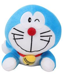 Doremon Crawling Soft Toy Blue White - 6 Inches