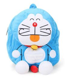 Doraemon Plush School Bag Blue - 11 Inches