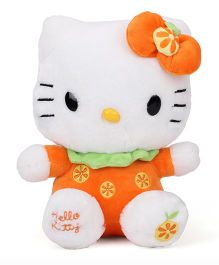 Hello Kitty Sitting Plush Toy Orange - 22 cm