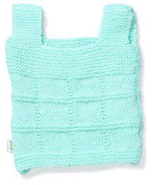 Babyhug Sleeveless Plain Sweater - Light Blue
