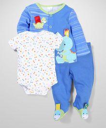 Taggies Dinosaur Printed Set - Blue & White