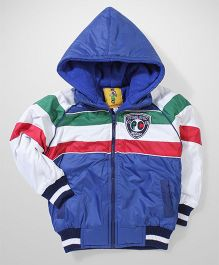 Peridot Hooded Jacket Logo Patch - Blue Red White
