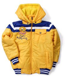 Peridot Hooded Jacket Number 2 Patch - Yellow