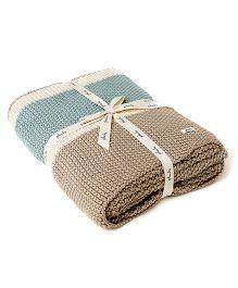 Pluchi Throw Blanket - Summer Blue