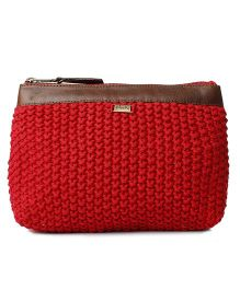 Pluchi Travel Pouch - Red & Brown