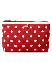 Pluchi Travel Pouch - Red & Ivory
