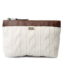 Pluchi Travel Pouch - Ivory & Brown