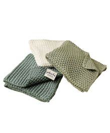 Pluchi Set Of 3 Wash Cloth - Multicolour