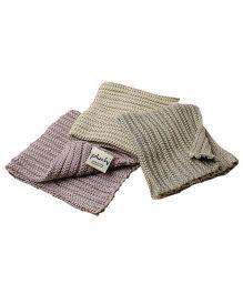 Pluchi Set Of 3 Wash Cloth - Multicolour