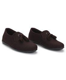 Bash Slip-On Style Formal Shoes - Dark Brown