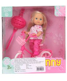 Jenny Laura Tricycle Doll - Pink