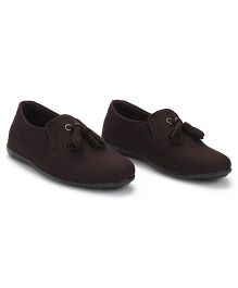 Bash Slip-On Style Formal Shoes - Dark Brown