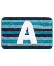 Saral Home Floor Mat Alphabet A - Blue & White