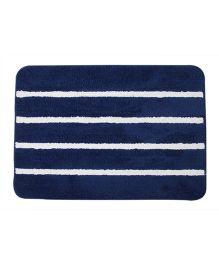 Saral Home Floor Mat Stripes Design - Blue & White