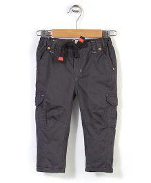 Pinehill Plain Trouser With Drawstring - Dark Grey