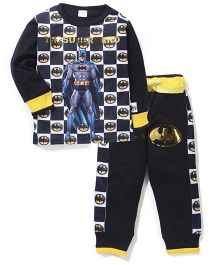 Batman Printed T-Shirt And Pant Set - Black