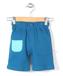 Zutano French Terry Big Pocket Shorts - Blue