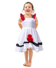 Shu Sam & Smith Dainty Dutch Dress - White & Red
