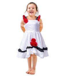 Shu Sam & Smith Dainty Dutch Dress - White & Red