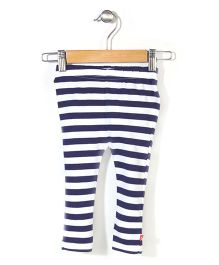 Zutano Striped Legging - White & Blue