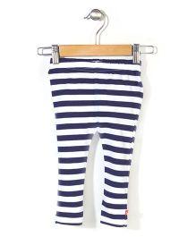 Zutano Striped Legging - White & Blue
