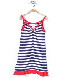 Zutano Singlet Dress - Navy Blue & White