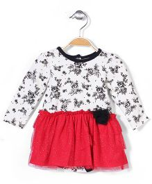 Vitamins Baby Floral  Print Dress - Red & White
