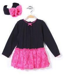 Vitamins Baby Dress - Black & Pink