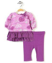 Vitamins Baby Top & Leggings Set - Purple