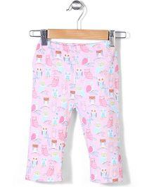 Zutano Owl Printed Pajama - Pink