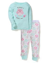 Vitamins Baby Owl Print Set - Green