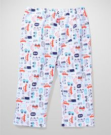 Zutano Car Printed Pants - White