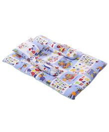 Mee Mee Multi Printed Mattress Set - Blue