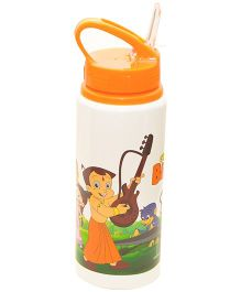 Chhota Bheem Sipper Water Bottle Orange and White - 600 ml