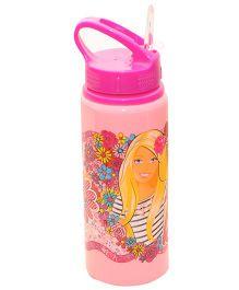Barbie Sipper Water Bottle Pink - 600 ml