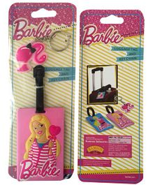Barbie Luggage Tag and Key Chain - Pink