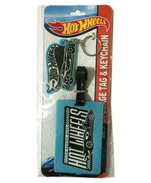 Hotwheels Luggage Tag and Key Chain - Blue