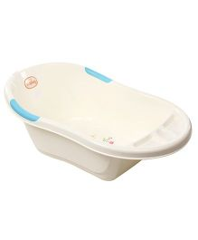 Babyhug Baby Bath Tub - White Blue