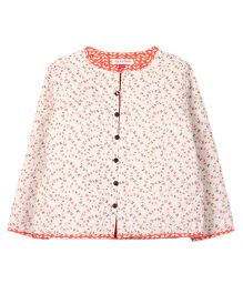 My Li'l Lambs Butterfly Print Jacket - White