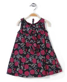 Pinehill Sleeveless Dress Floral Print - Black