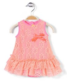 Baby Starters Dress - Pink & Orange