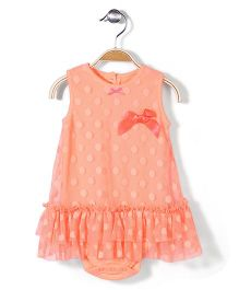 Baby Starters Onesies Styled Frock - Light Orange