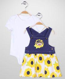 Baby Starters Sunflower Print Set - Yellow & White