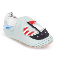 Jack & Lily Baby Shoes Sailboat Motif - Sea Green