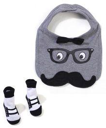 Baby Starters Bib & Socks - Grey