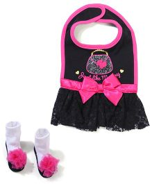 Baby Starters Bib & Socks - Black