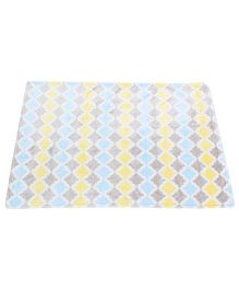 Baby Starters Blanket - White, Blue & Yellow