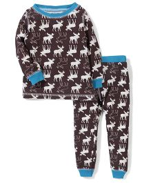 Mud pie Animal Printed Set - Brown