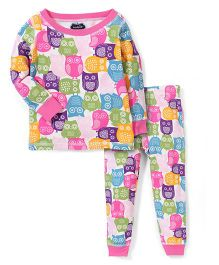 Mud Pie Owl Print Nightwear - Multicolor