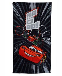 Disney Pixar Cars Printed Towel - Black